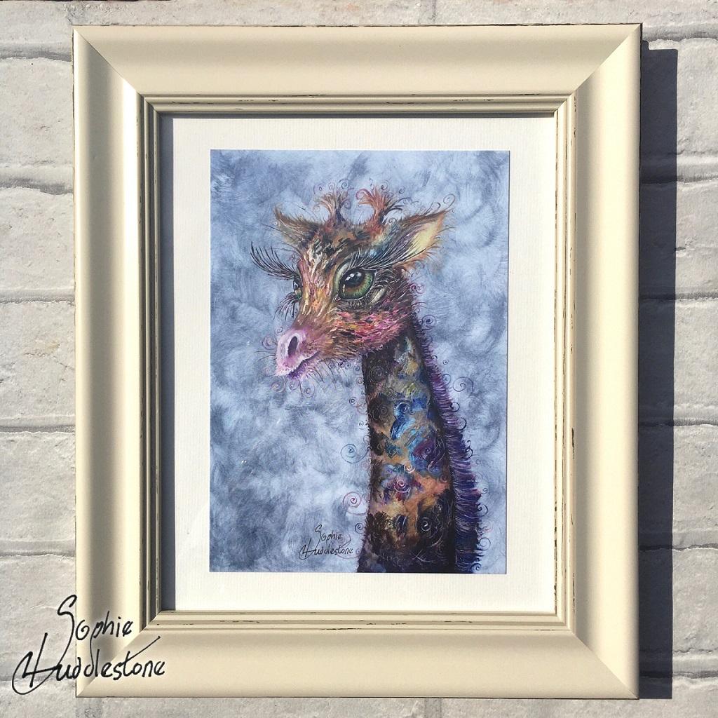 swirly soph giraffe by Sophie Huddlestone 121.1024.1024